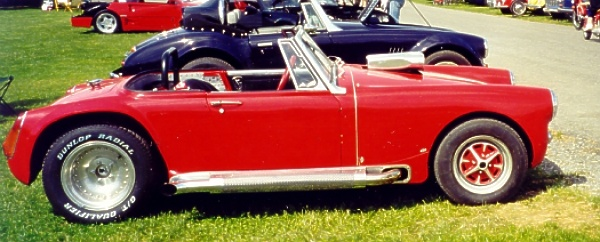 mg midget with v8